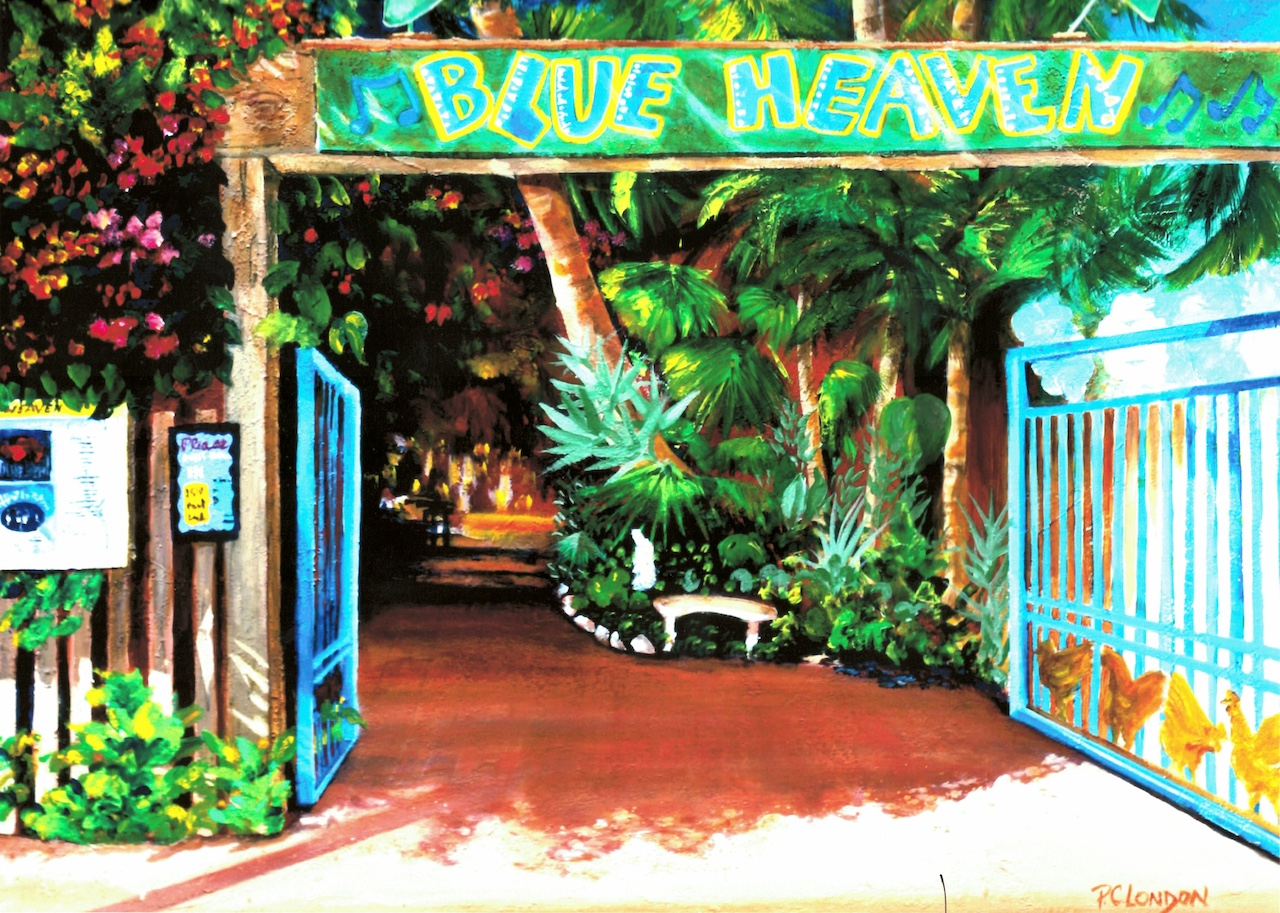 Blue Heaven sign and entrance
